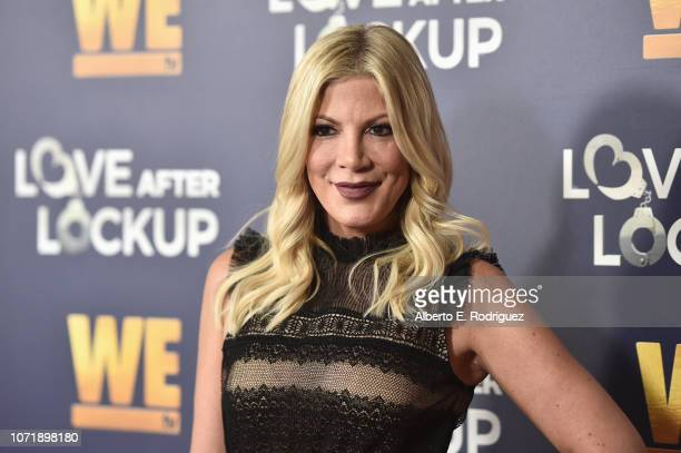 "Tori Spelling attends WE tv celebrates the return of ""Love After Lockup"" with panel, ""Real Love: Relationship Reality TV's Past, Present & Future,""..."