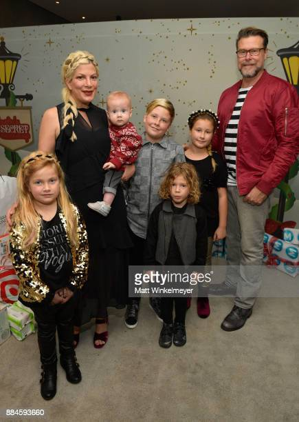 Tori Spelling , Dean McDermott, and their children at the 7th Annual Santa's Secret Workshop benefiting LA Family Housing at Andaz on December 2,...