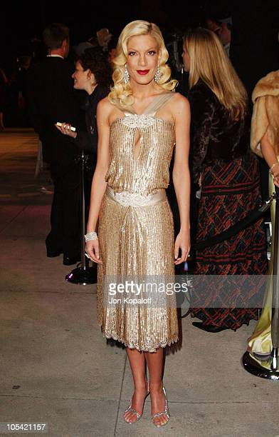 Tori Spelling during 2005 Vanity Fair Oscar Party at Mortons in Los Angeles California United States