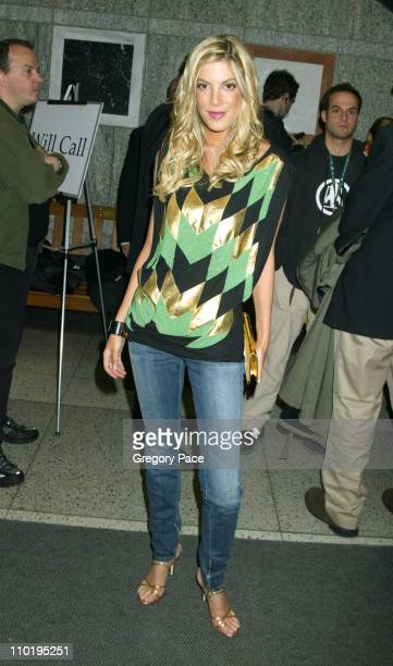 Tori Spelling during 3rd Annual Tribeca Film Festival 'Coffee And Cigarettes' New York Premiere Inside Arrivals at Stuyvesant High School New York...