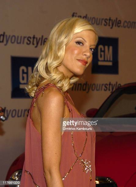 Tori Spelling during 4th Annual 'ten' Fashion Show Presented By General Motors Red Carpet in Los Angeles California United States