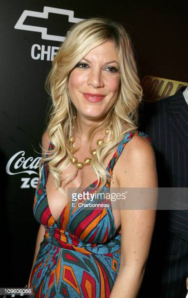 Tori Spelling during Mark Burnett and AOL Celebrate the Launch of GOLD RUSH Red Carpet and Inside at Les Deux in Hollywood California United States