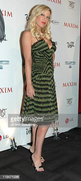 Tori Spelling during Maxim Magazine 100th Birthday Celebration - Arrivals at Tryst at Wynn Las Vegas in Las Vegas, Nevada, United States.