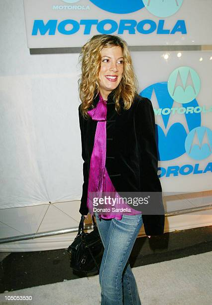 Tori Spelling during Motorola 4th Annual Holiday Party Arrivals at The Lot in Hollywood California United States
