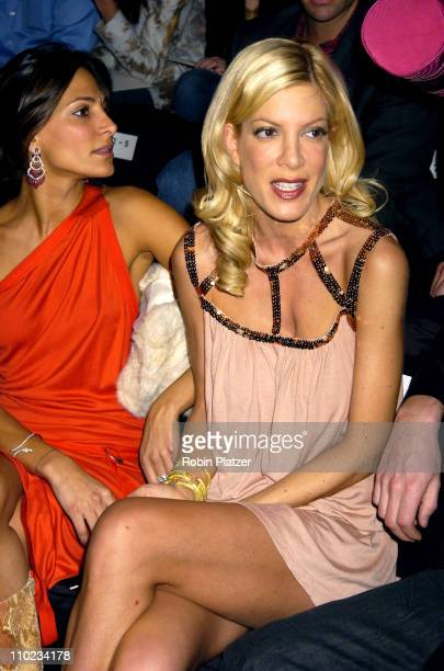 Tori Spelling during Olympus Fashion Week Fall 2005 Anne Bowen Front Row at The Olympus Fashion Week at Bryant Park in New York New York United States