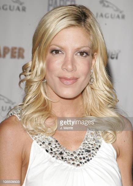 Tori Spelling during Paper Magazine and Jaguar 2005 Celebrate the 8th Annual 'Beautiful People' Issue at Roosevelt Hotel Hollywood in Hollywood...