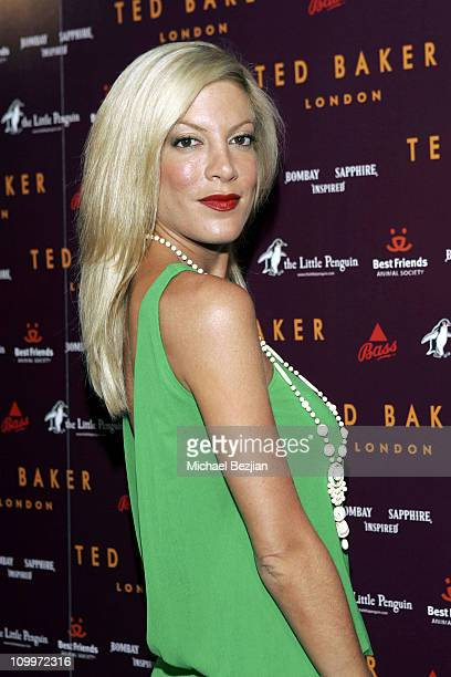 Tori Spelling during Ted Baker London Best In Show Los Angeles Store Opening at Ted Baker in Los Angeles California United States