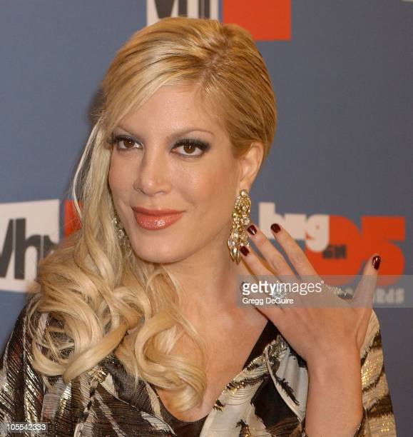 Tori Spelling during VH1 Big in '05 Arrivals at Sony Studios in Culver City California United States