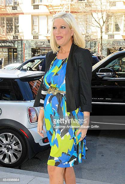 Tori Spelling is seen on April 03 2012 in New York City