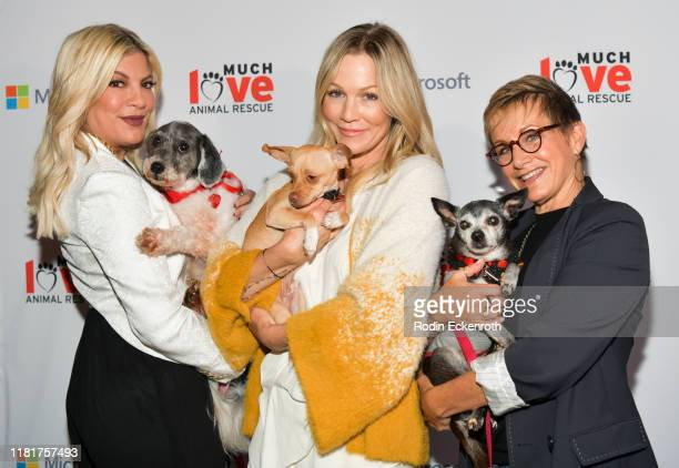 Tori Spelling, Jennie Garth, and Gabrielle Carteris attend the Much Love Animal Rescue 3rd Annual Spoken Woof Benefit at Microsoft Lounge on October...