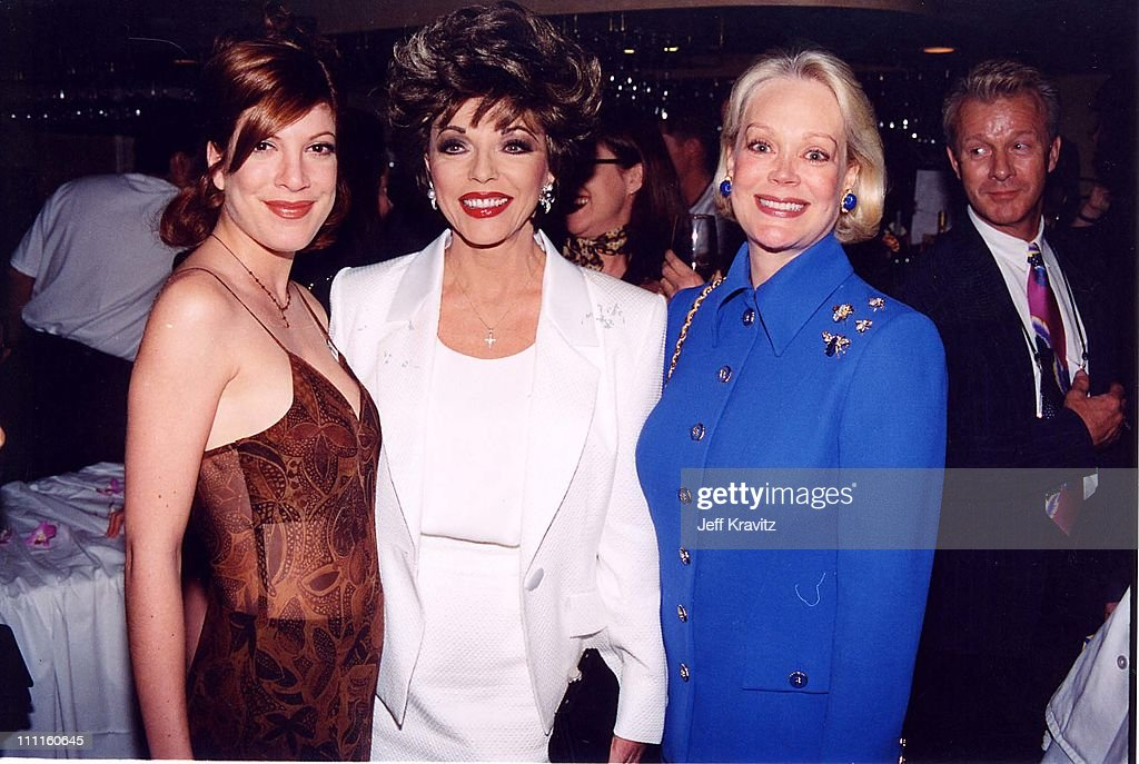 Tori Spelling, Joan Collins and Candy Spelling during Pacific Palisades - Premiere Party in Los Angeles, California, United States.