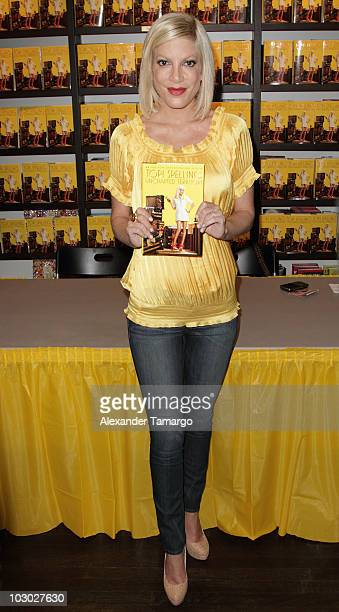 Tori Spelling makes an appearance to sign copies of her book Uncharted TerriTORI at Books and Books on July 21 2010 in Miami Beach Florida