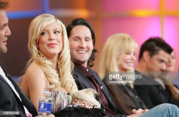 Tori Spelling Mike Chessler and Loni Anderson during 2006 TCA MTV Networks Presentation at Ritz Carlton Hotel Pavilion Room in Pasadena California...