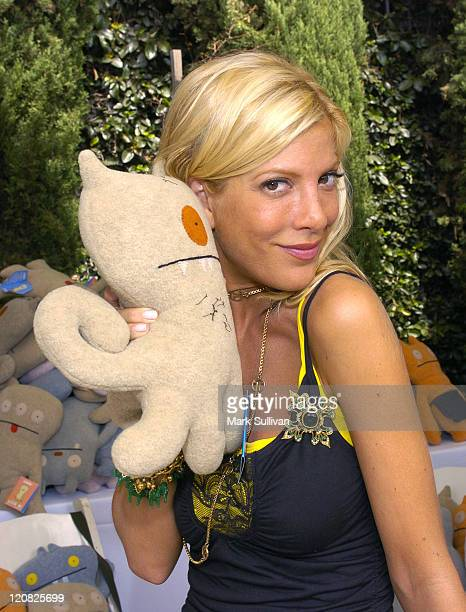 Tori Spelling with Ugly Doll during Silver Spoon Hollywood Buffet Day One at Private Estate in Los Angeles California United States Photo by Mark...