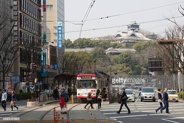 torichosuji shopping district in kumamoto, japan - kumamoto prefecture stock pictures, royalty-free photos & images