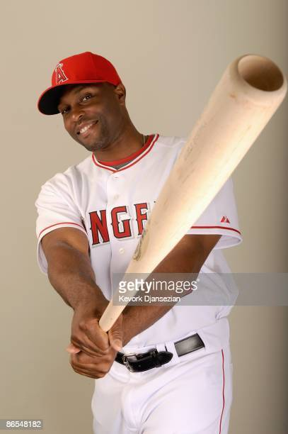 Torii Hunter of the Los Angeles Angels of Anaheim poses during photo day at Tempe Diablo Stadium on February 25 2009 in Tempe Arizona