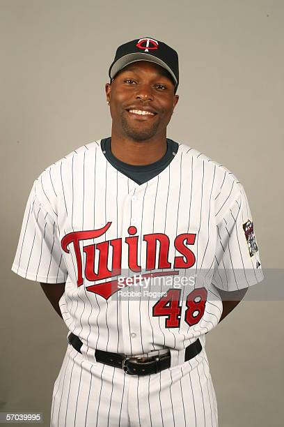 Torii Hunter of the Minnesota Twins during photo day at Hammond Stadium on February 27 2007 in Ft Myers Florida