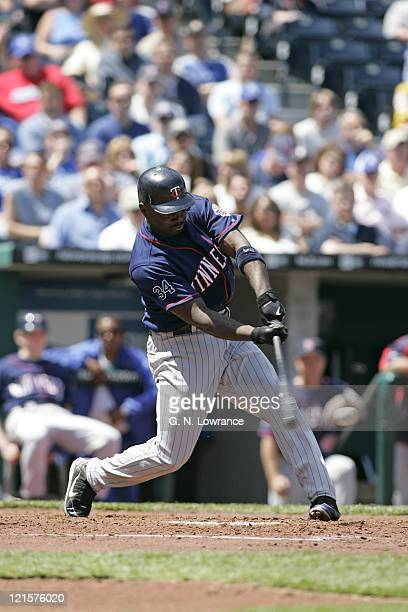 Torii Hunter of the Minnesota Twins in action against the Kansas City Royals at Kauffman Stadium in Kansas City Missouri on April 27 2006 The Twins...