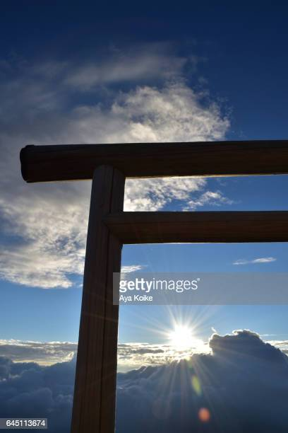 Torii sunrise from Mt.Fuji