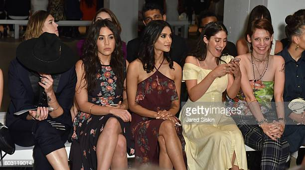 Torii Wolf Audrey Esparza Melanie Chandra Arden Wohl and Cori Kenneddy sit front row at Erin Fetherston Front Row September 2016 New York Fashion...