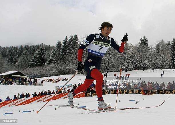 Torin Koos of the USA in action during the men's 12 km sprint of the Cross Country World Cup on January 22 2006 in Oberstdorf Germany