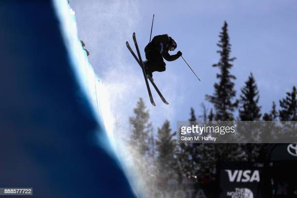 Torin YaterWallace of the United States competes in the finals of the FIS Freeski World Cup 2018 Men's Halfpipe during the Toyota US Grand Prix on...