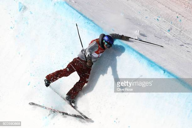 Torin YaterWallace of the United States crashes during the Freestyle Skiing Men's Ski Halfpipe Final on day thirteen of the PyeongChang 2018 Winter...