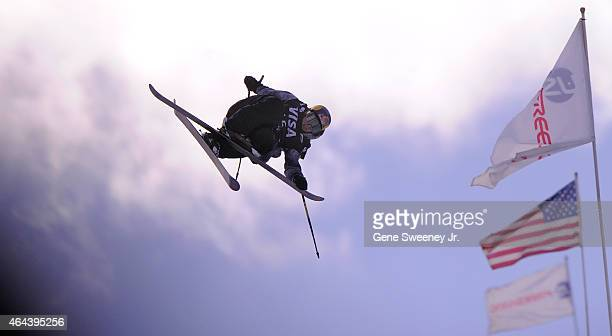 Torin YaterWallace of the United States during qualifying for the FIS Freeskiing World Cup 2015 Men's Freeskiing Halfpipe during the US Grand Prix at...