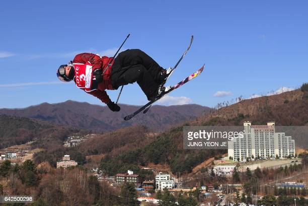 Torin Yater-Wallace of the US competes during the men's Halfpipe final event of the FIS Freestyle Ski World Cup at Phoenix Snow Park in Pyeongchang...
