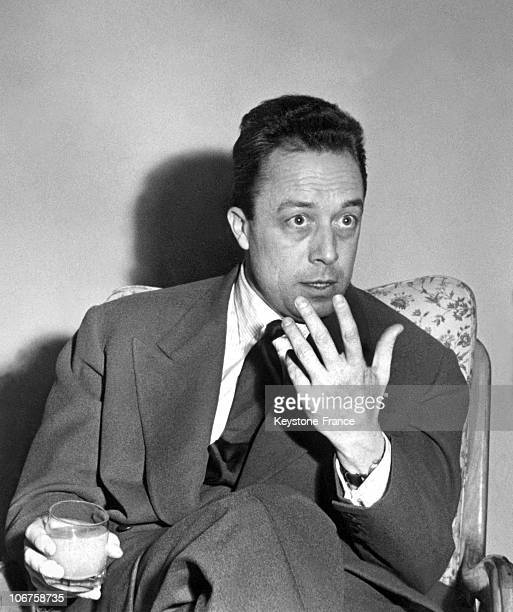 Torino Albert Camus Answering To The Journalists In November 1954