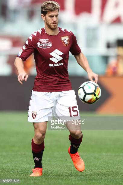 Torino defender Cristian Ansaldi in action during the Serie A football match n7 TORINO HELLAS VERONA on at the Stadio Olimpico Grande Torino in Turin...