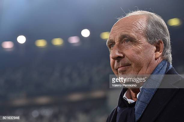 Torino FC head coach Giampiero Ventura looks on during the TIM Cup match between FC Juventus and Torino FC at Juventus Arena on December 16 2015 in...