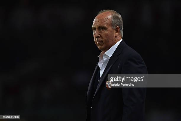 Torino FC head coach Giampiero Ventura looks on prior to the Serie A match between Torino FC and AC Milan at Stadio Olimpico di Torino on October 17,...