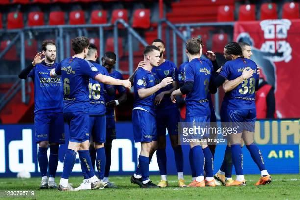 Torino Hunte of VVV Venlo, Christos Donis of VVV Venlo, Evert Linthorst Of VVV Venlo, Kristopher Da Graca of VVV Venlo, Georgios Giakoumakis of VVV...