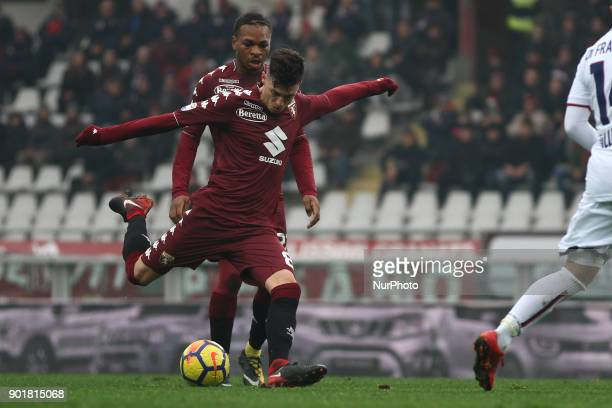 Torino midfielder Daniele Baselli shoots the ball during the Serie A football match n20 TORINO BOLOGNA on at the Stadio Olimpico Grande Torino in...