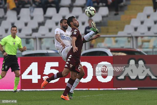 Torino midfielder Juan Sanchez Mino fight for the ball against Udinese defender Danilo Larangeira during the Serie A football match n7 TORINO UDINESE...