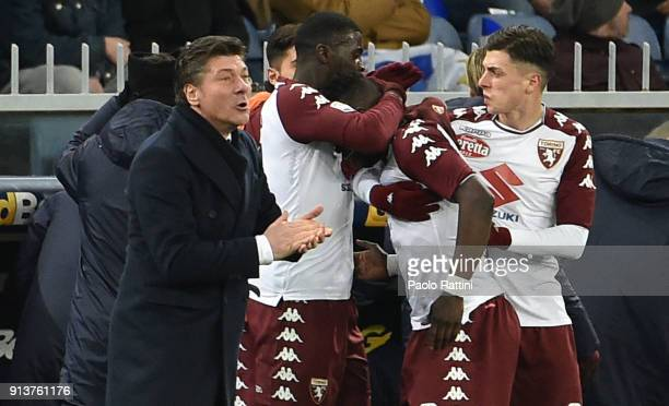 Torino players celebrates goal 11 Afriyie Acquah during the serie A match between UC Sampdoria and Torino FC at Stadio Luigi Ferraris on February 3...