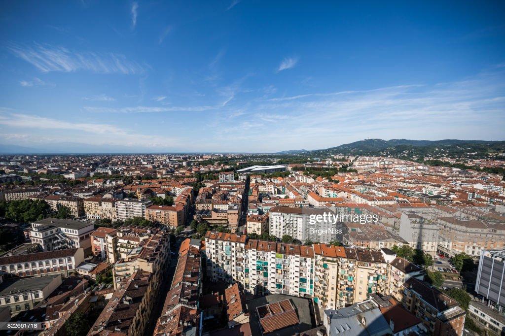 Torino seen from Mole Antonelliana, Italy : Stock Photo