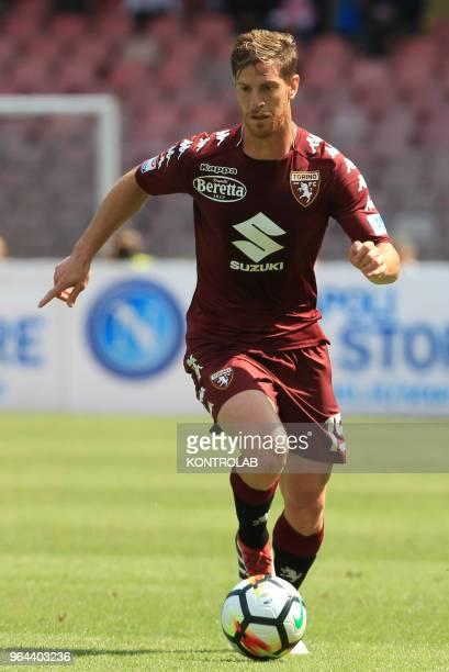 STADIUM NAPLES CAMPANIA ITALY Torino's Argentinian defender Cristian Ansaldi controls the ball during the Italian Serie A football match SSC Napoli...