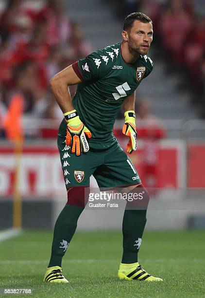 TorinoÕs goalkeeper Daniele Padelli in action during the Eusebio Cup match between SL Benfica and Torino at Estadio da Luz on July 27 2016 in Lisbon...