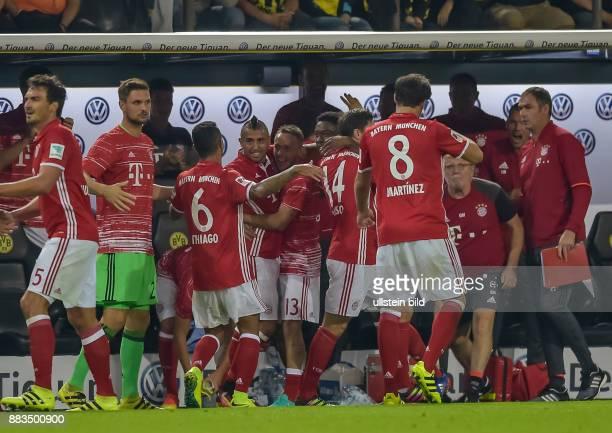 Torjubel bei Arturo Vidal nach seinem Tor zum 0:1 waehrend dem DFL Supercup zwischen Borussia Dortmund gegen FC Bayern Muenchen am 14. August 2016 in...