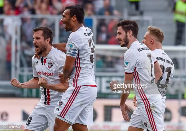 Torjubel bei Markus Suttner und Marvin Matip nach dem Siegtreffer waehrend dem Fussball Bundesliga Spiel FC Ingolstadt 04 gegen Darmstadt 98 am 28....