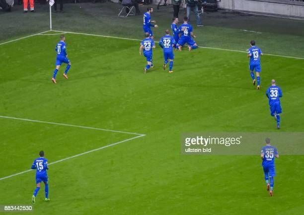 Torjubel bei Sandro Wagner nach seinem Tor zum 0:1, waehrend dem Fussball Bundesliga Spiel FC Bayern Muenchen gegen SV Darmstadt 98 am 22. Spieltag...