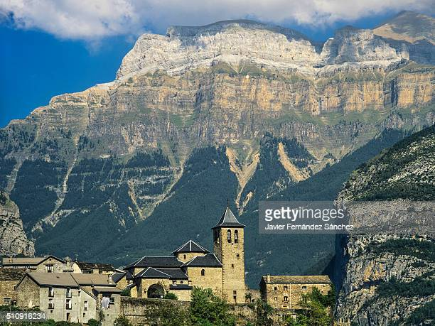 Torla, the town which is the main entrance to the Ordesa y Monte Perdido National Park.
