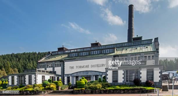 Tormore distillery, Speyside single malt Scotch whisky distillery near Grantown-on-Spey, Scotland, UK.