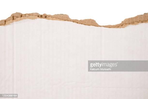 torn cardboard texture background - pappe stock-fotos und bilder