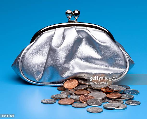 Torn Change Purse Leaking Money