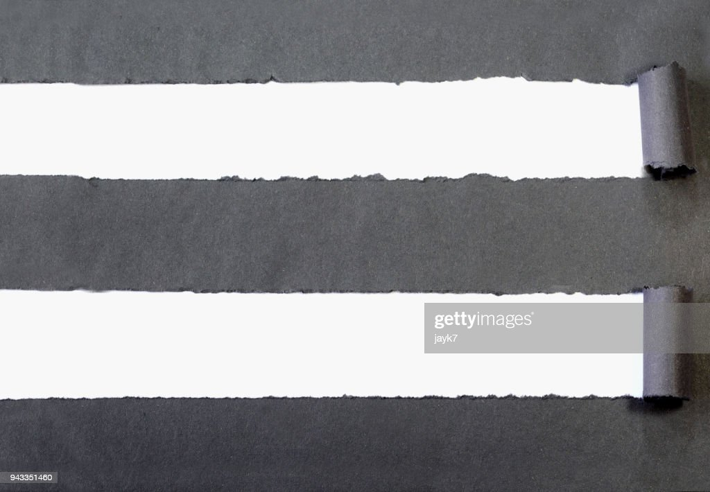 Torn Curled Paper : Stock Photo