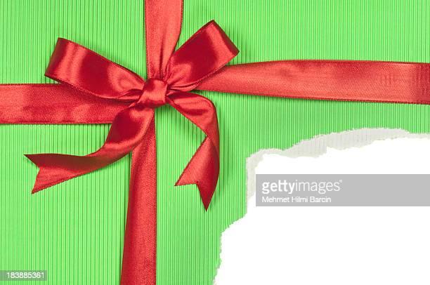 Torn Green Gift Box