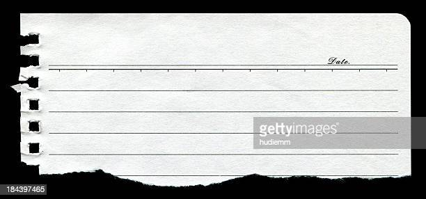 Torn Notebook Page paper textured background isolated